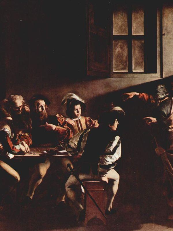 Caravaggio - Vocazione di Matteo - Public Domain