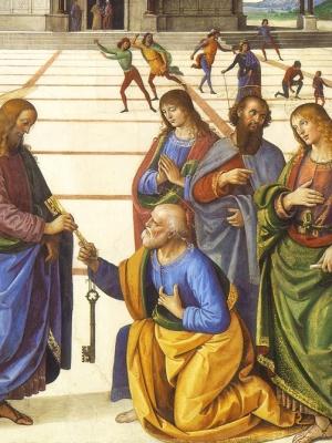 Perugino, Consegna delle chiavi a San Pietro, particolare