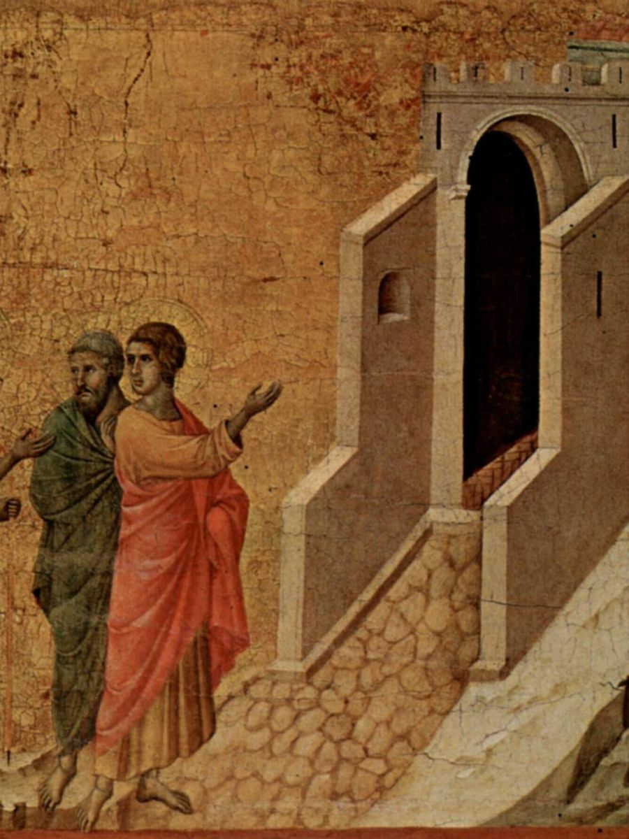 Duccio di Buoninsegna. I discepoli di Emmaus