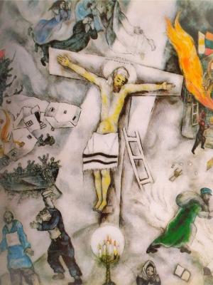 Marc Chagall, La crucifixion blanche, 1938, olio su tela.